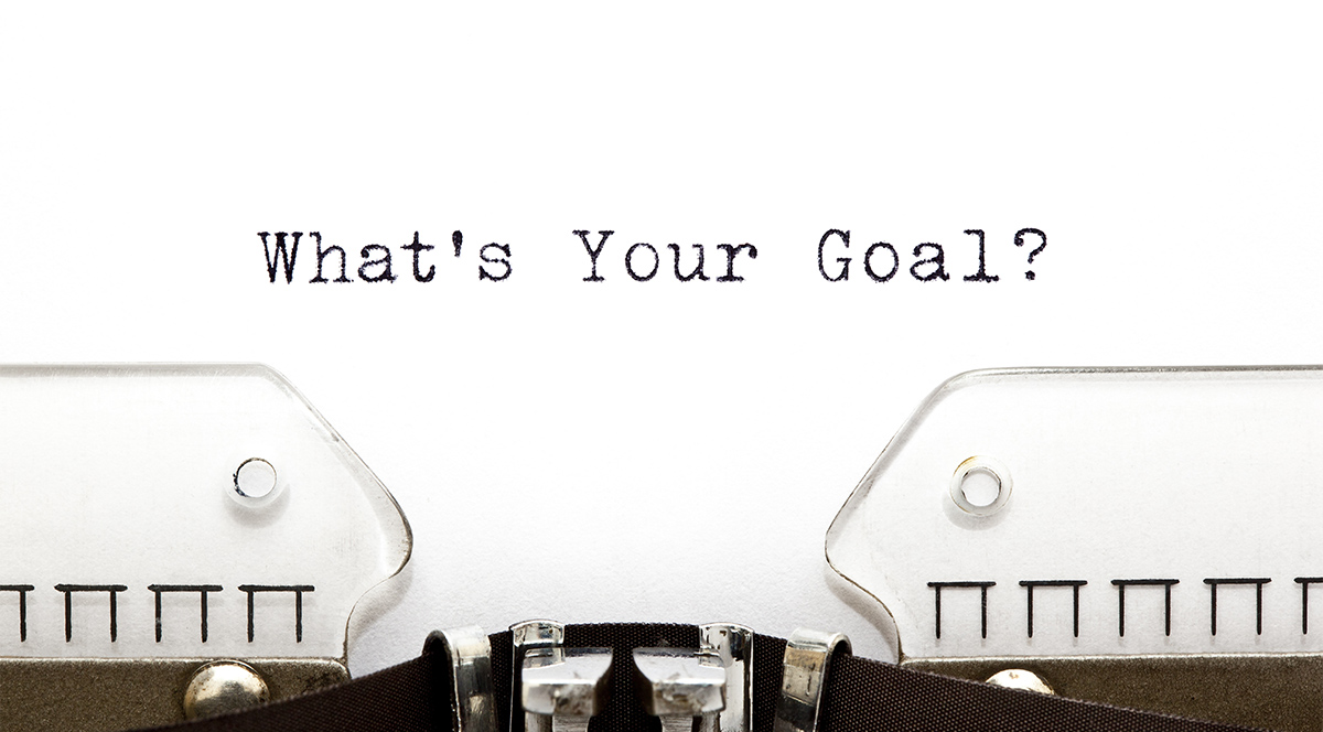 Typewriter Whats Your Goal